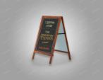 Деревянный штендер для кафе и ресторанов