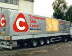 Реклама CSZ на грузовом авто